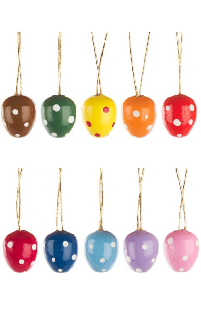 Dregeno Decorated Set of 10 Eggs Easter Ornaments