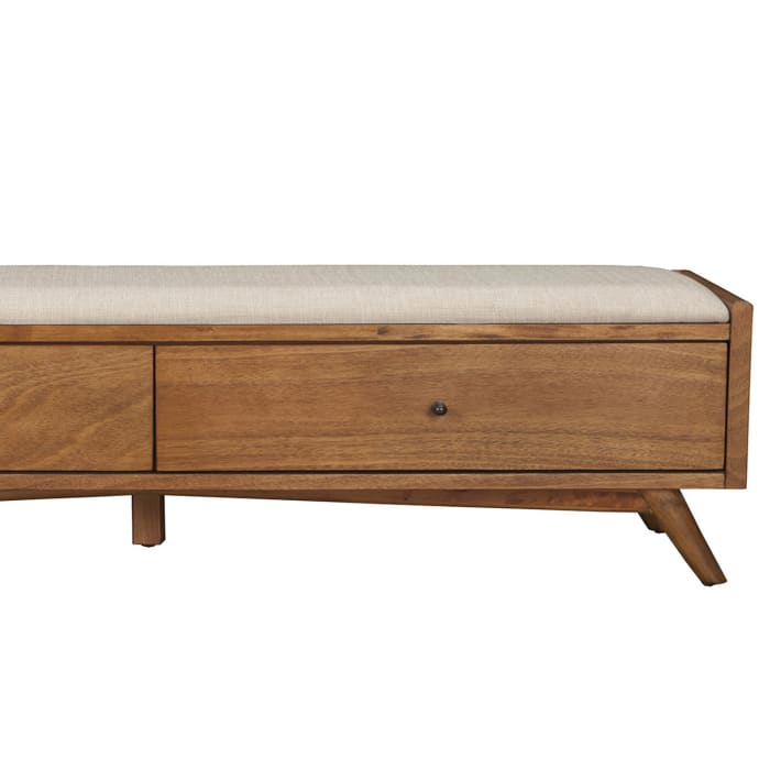 Flynn Bedroom Bench in Acorn Brown