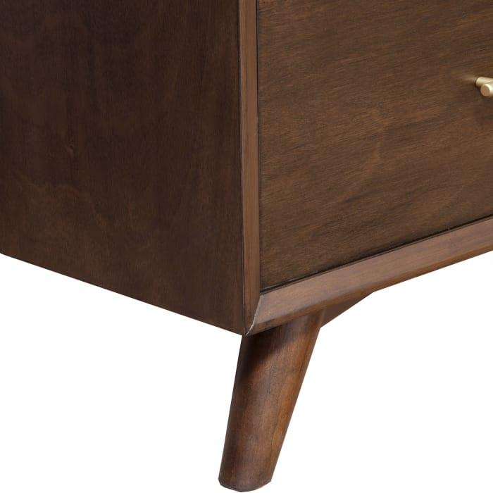 Flynn Mid Century Wood 3 Drawer Accent Chest in Walnut