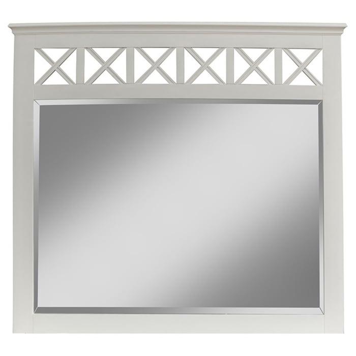 Potter Wooden Bedroom Mirror in White