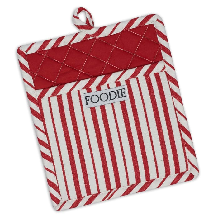 Candy Stripe Cotton Oven Mitt Set of 2