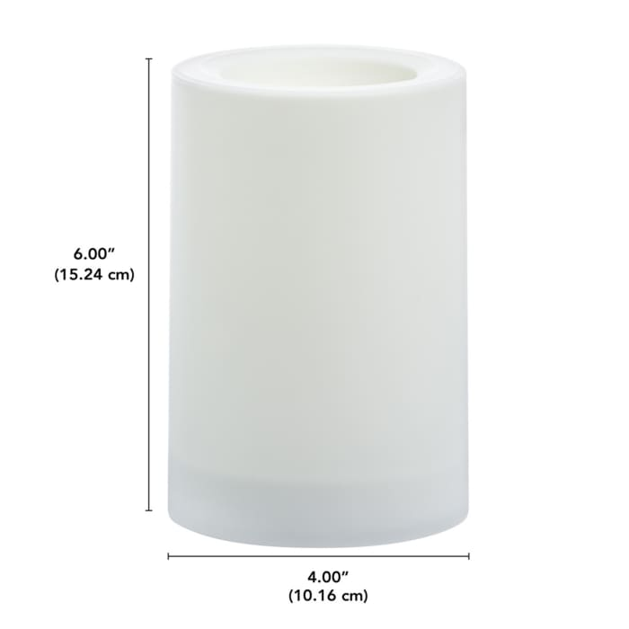 Essentials Flameless LED Outdoor Pillar Candle, 4