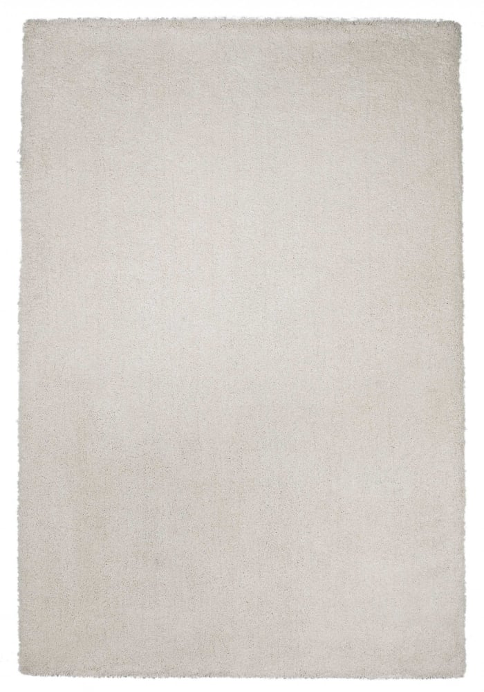 Shag Solid Ivory  Area Rug