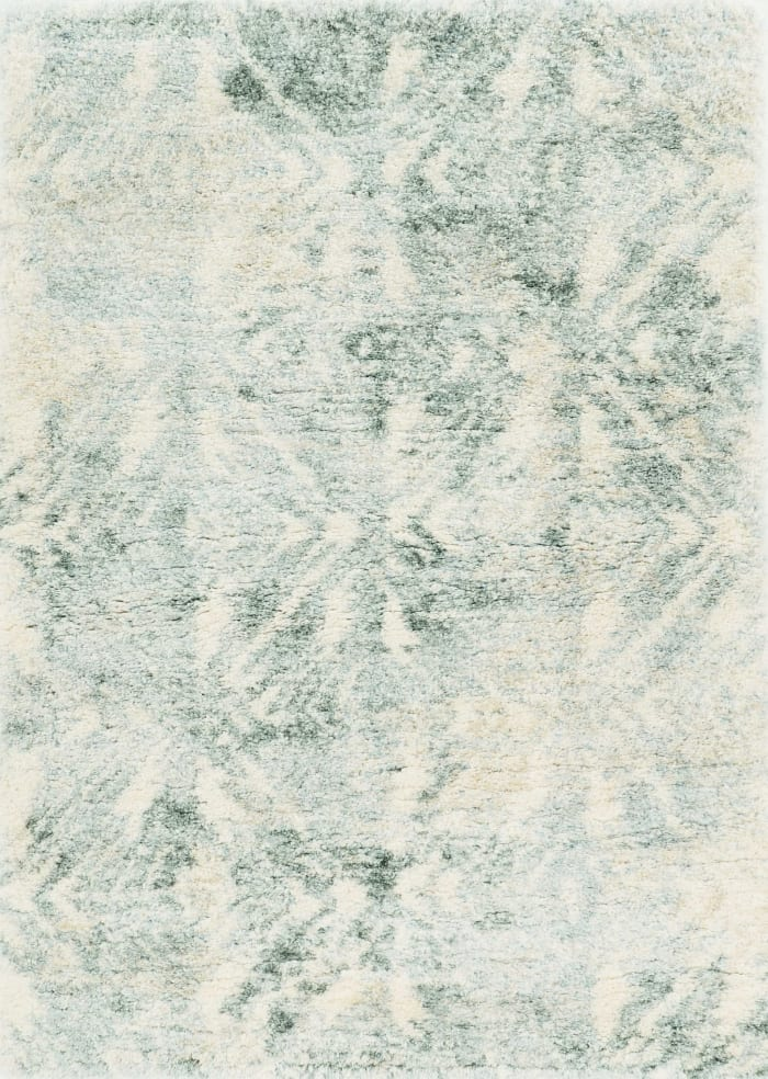 Modern Abstract Ivory and Grey Area Rug