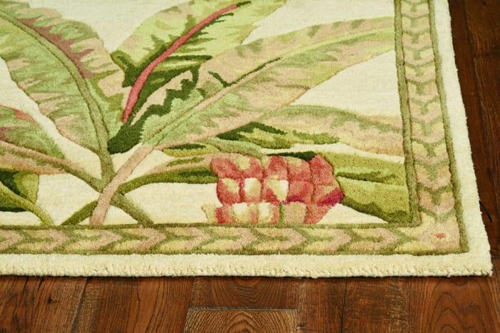 Wool Ivory Area Rug
