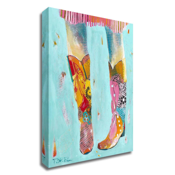 Cowgirl Boots by Pamela K. Beer Canvas Wall Art