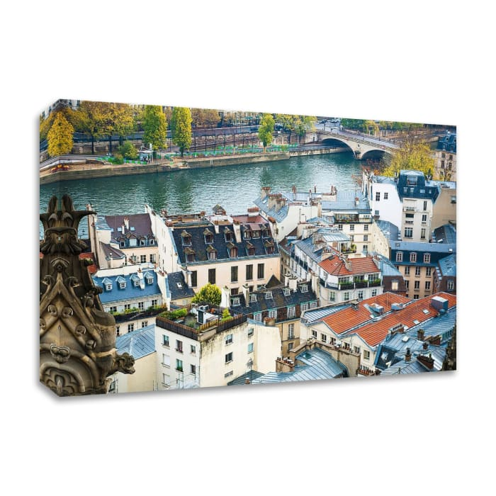 Paris Rooftops by Sonja Quintero Wrapped Canvas Wall Art