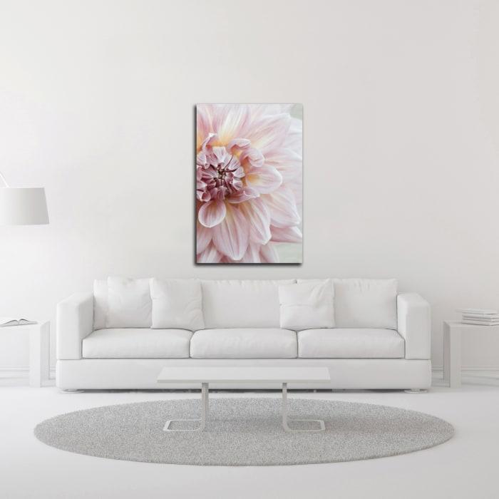 Blush Pink Dahlia by Brooke T. Ryan Wrapped Canvas Wall Art