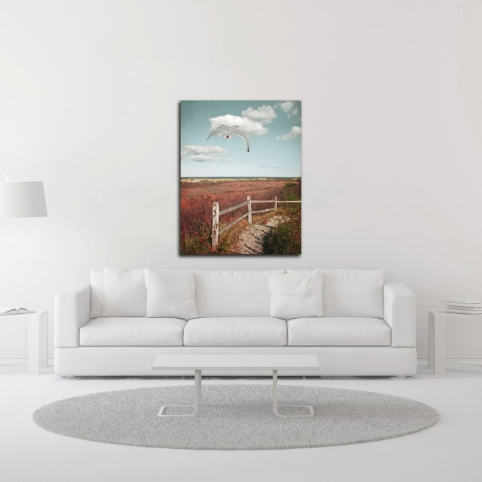 Gull over Coastal Trail by Brooke T. Ryan  Wrapped Canvas Wall Art