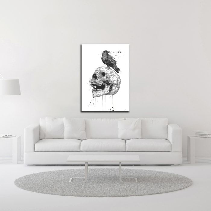 Skull in Triangle No. 2 by Balazs Solti  Wrapped Canvas Wall Art