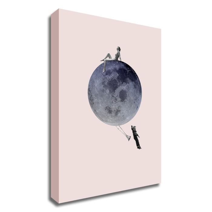 Moon Jump by Design Fabrikken Canvas Wall Art
