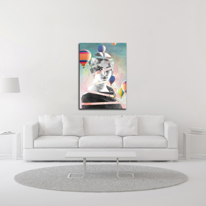 Cleo De Merode Baloons by Design Fabrikken Canvas Wall Art