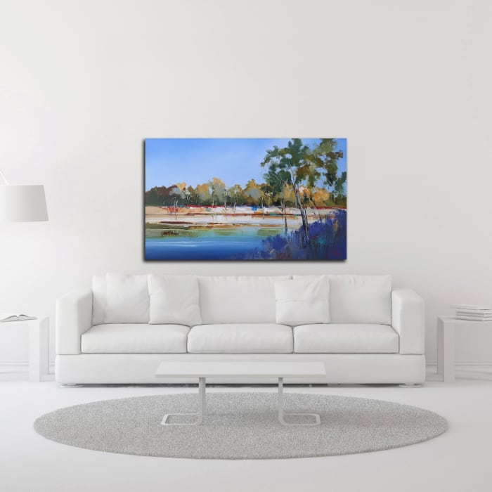 Late Night, The Murray 2 by Craig Trewin Penny Wrapped Canvas Wall Art