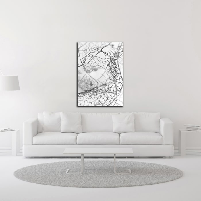Leaf Skeleton BW by Design Fabrikken Canvas Wall Art