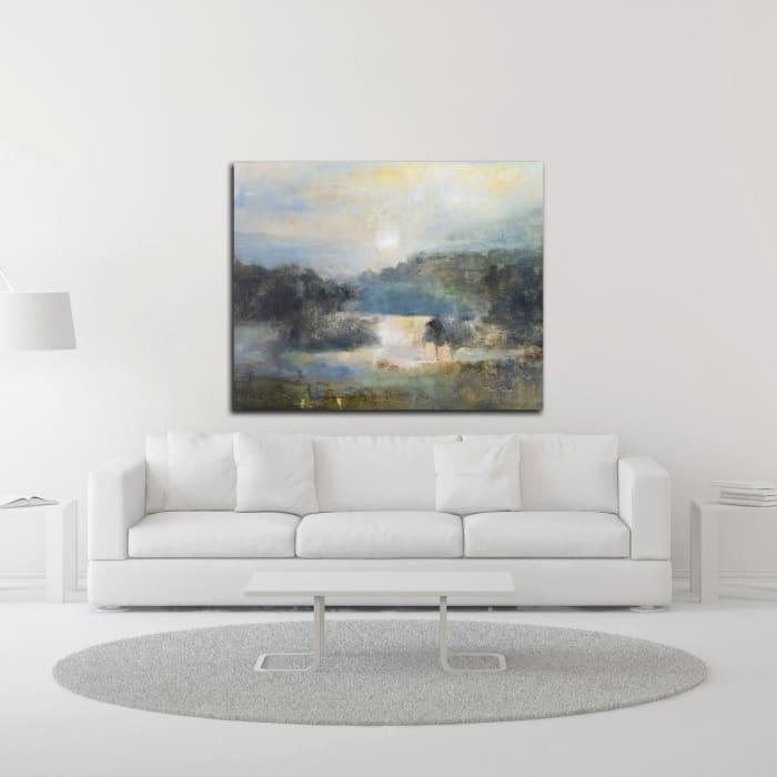 Valley Blue by J Austin Jennings Canvas Wall Art