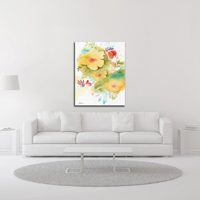Fiesta Flowers by Sheila Golden Canvas Wall Art