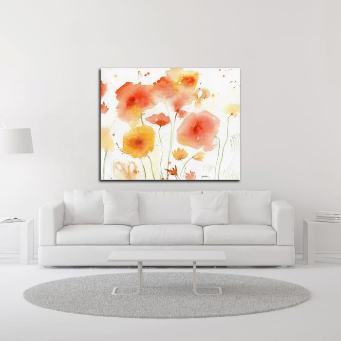 Orange Yellow by Sheila Golden Canvas Wall Art