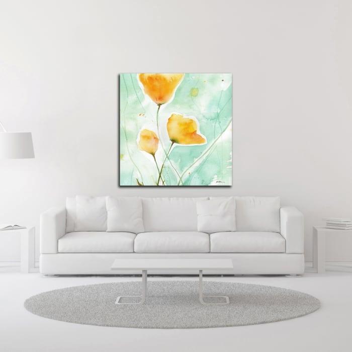 Precious Poppies by Sheila Golden Canvas Wall Art
