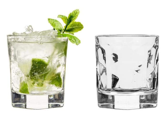 Club tumbler glass, 2 pack