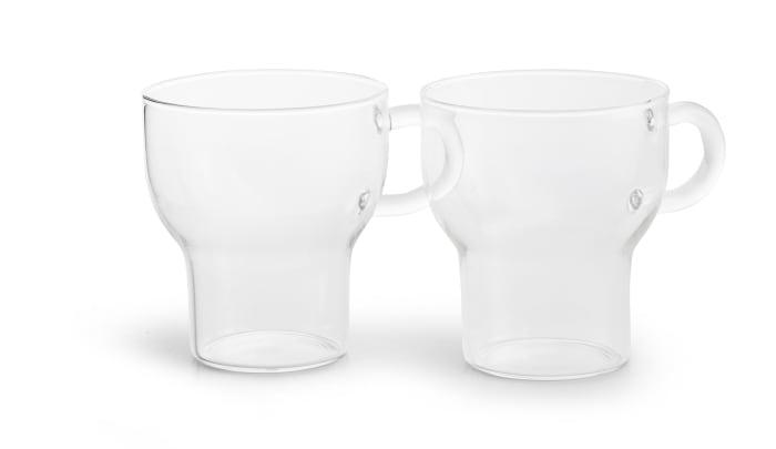 2 pack Clear 25 cl Glass Mug