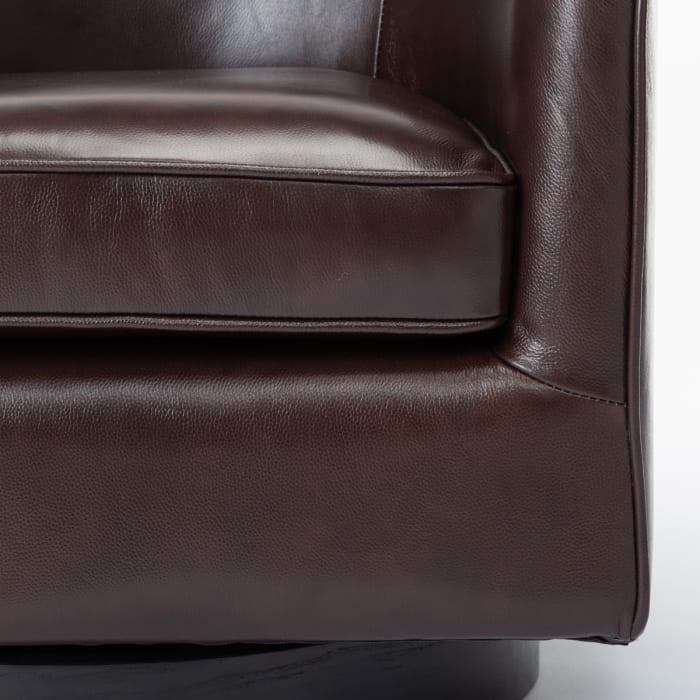 Torrey Brown Top Grain Leather Swivel Chair