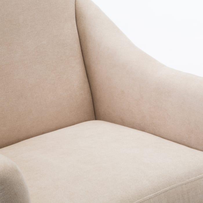 Gianna Shell Skirted Swivel Chair