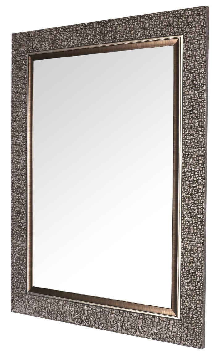 Silver Grey Mosaic Designer Wall Mirror