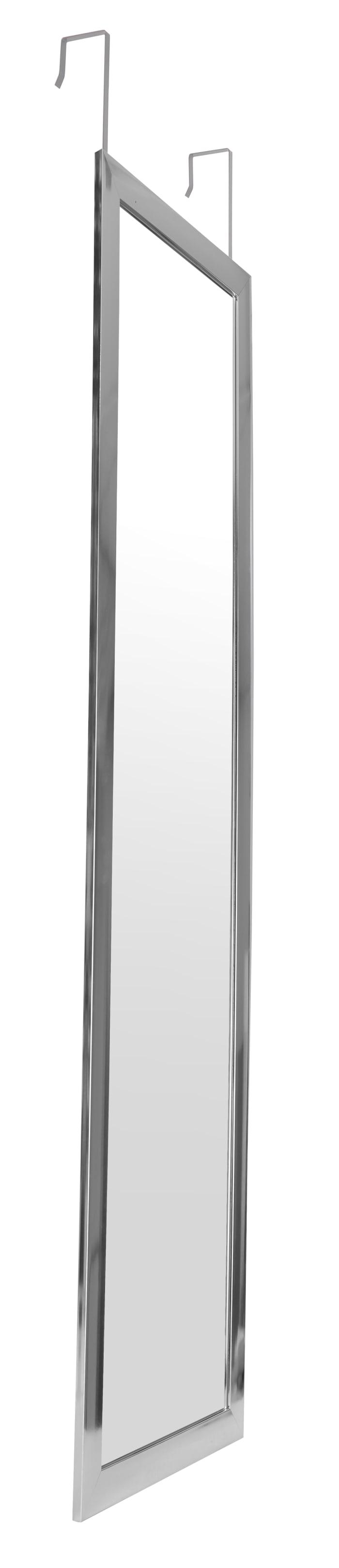 Long Silver Over the Door Dressing Mirror