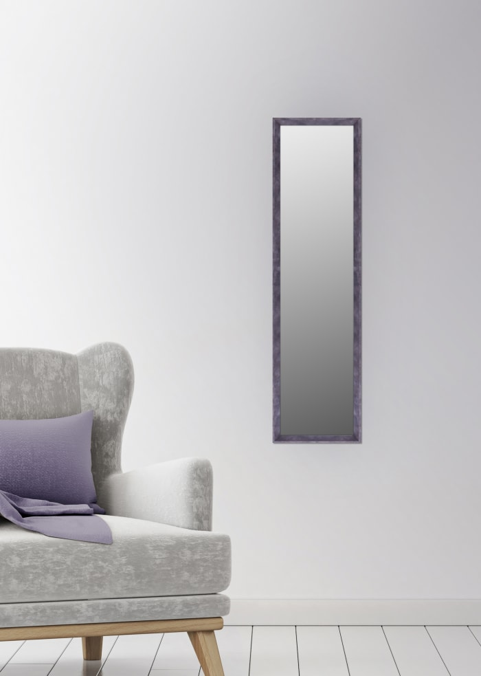 Long Rectangle Brown Patina Door and Wall Mirror