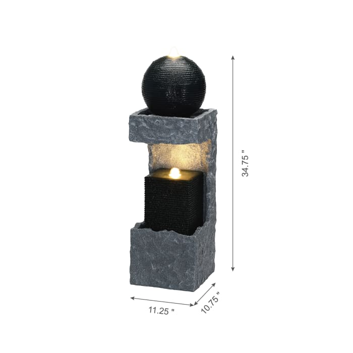 Modern Architecture Outdoor Fountain with LED Lights