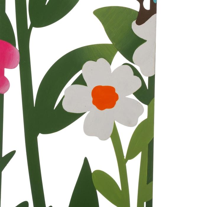 Metal Flowers Silhouette Set of 5 Yard Stakes