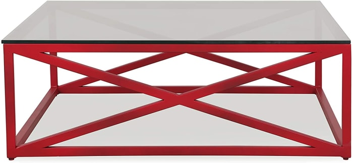 Xavier Red Rectangle Coffee Table