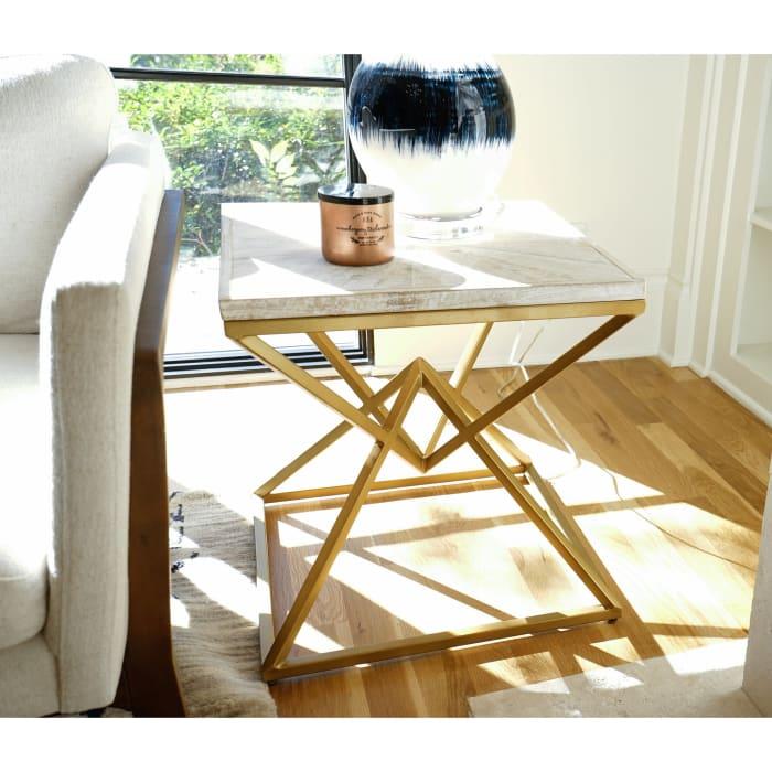 Posh Pollen Winnie White Wash Side Table