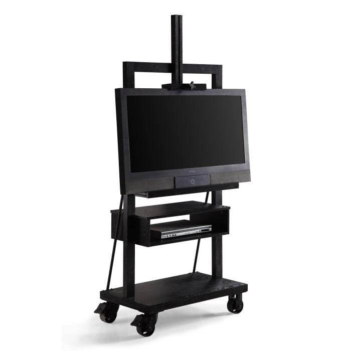 Posh Pollen Cullen Black Tv Media Stand