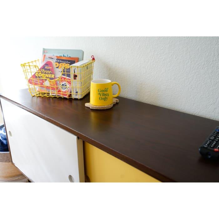 Posh Pollen Milner Yellow & White Console Table