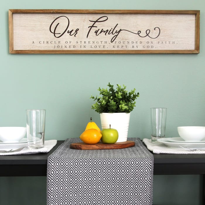 Our Family Wooden and Metal Wall Decor