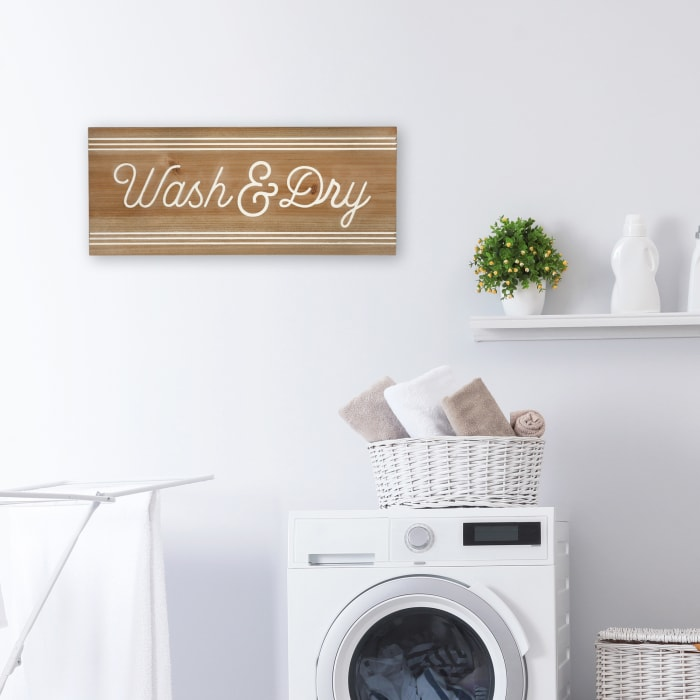 Wash And Dry Brown Wood Wall Art