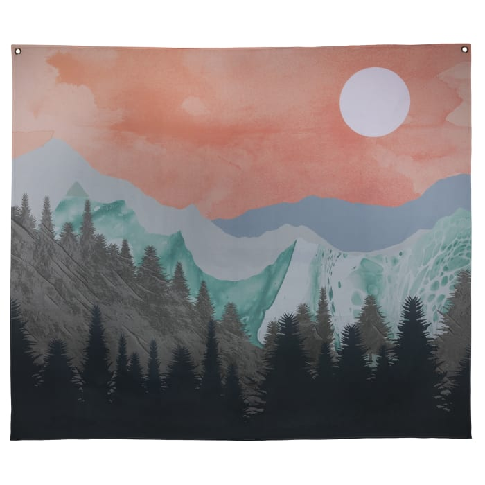 Relaxing Mountain Sunset Wall Tapestry