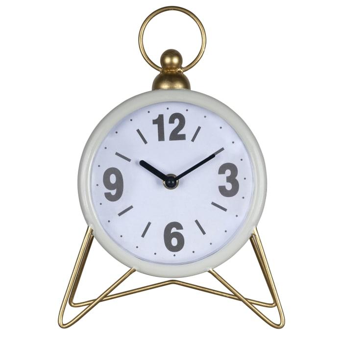 Triangle Gray Golden Desk Clock