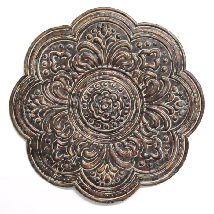 Elegant Bronze Medallion Metal Wall Decor