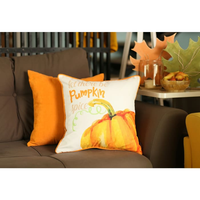 Pumpkin Pie Multicolor Set of 4 Throw Pillow Covers