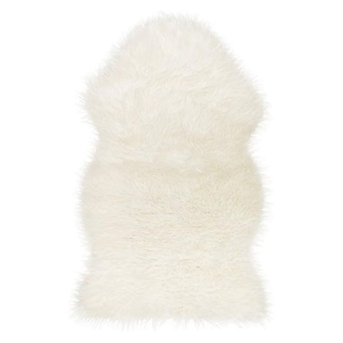 White Gradient Sheepskin Area Rug