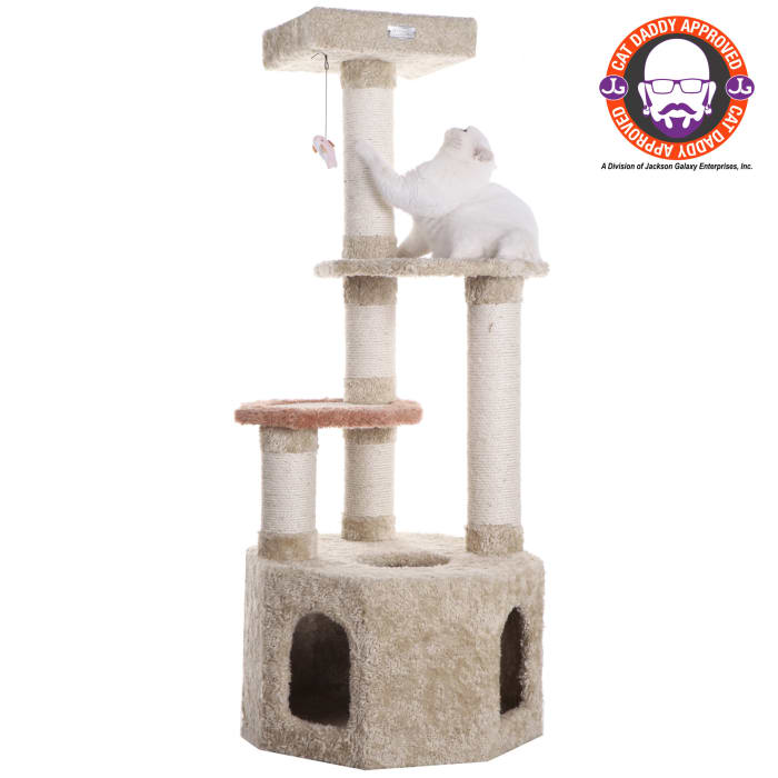 Soft Heavy Carpet Cat Furniture With Condo For Large Cat