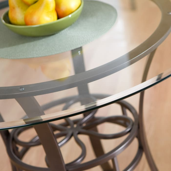 Wigan Lucianna Glass Top Dining Table