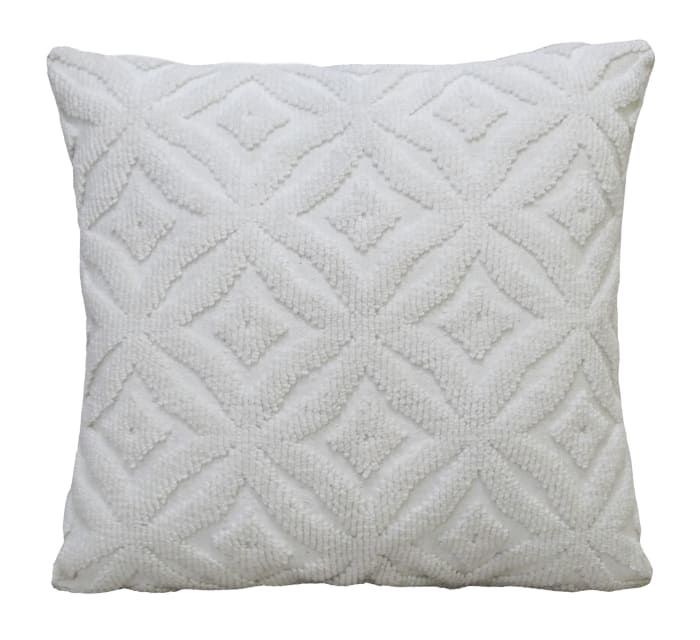 Ogee White Outdoor Decorative Pillow