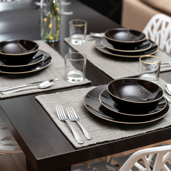Classic Gray Cotton Set of 4 Placemats