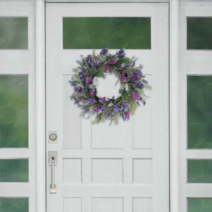 "Puleo 24"" International Artificial Lavender Floral Spring Wreath"