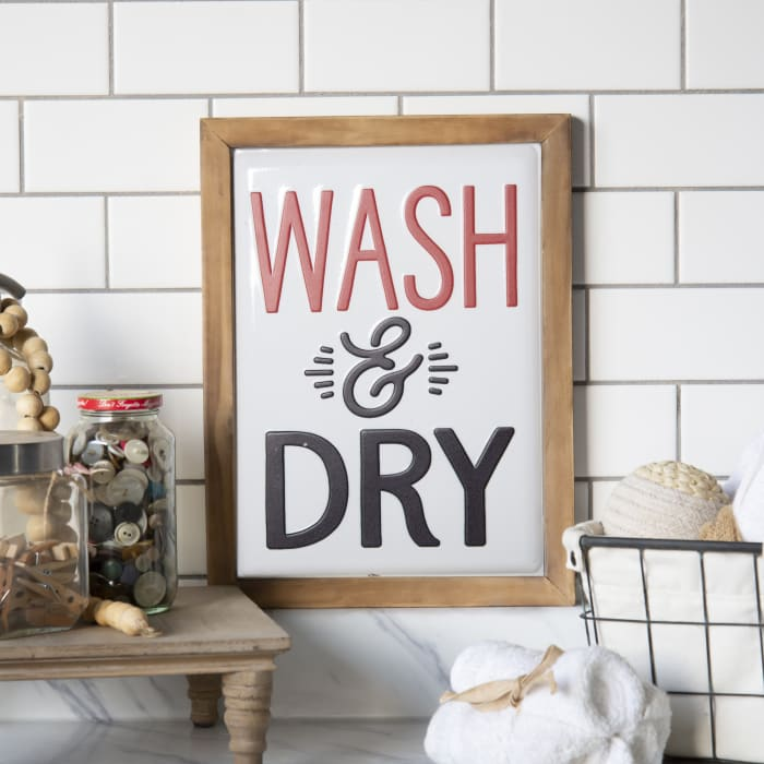 Wash & Dry Wall Sign