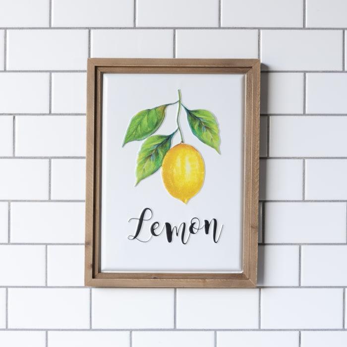 Lemon Wall Sign