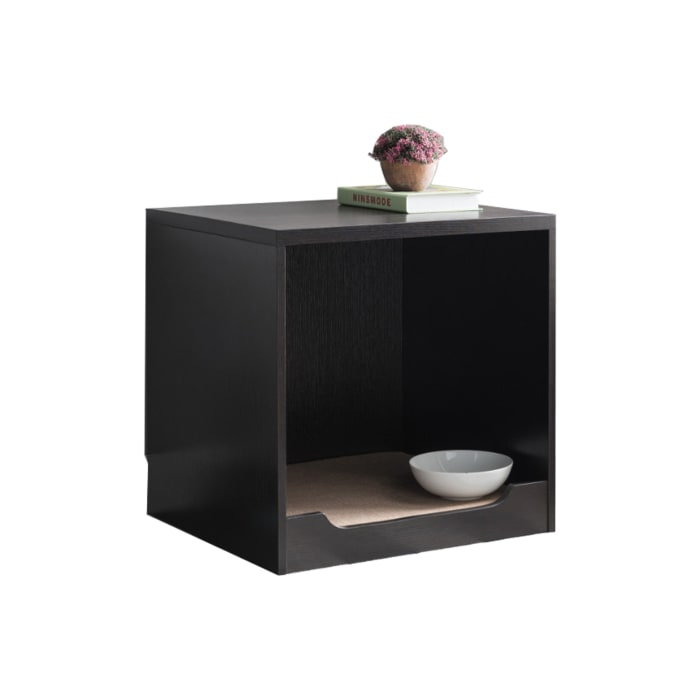 Red Cocoa Brown Wooden Pet End Table